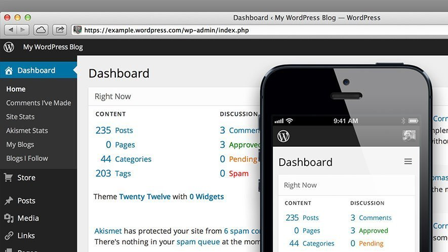 Wordpress-Mobile-Dashboard
